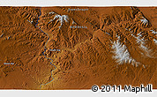 """Physical 3D Map of the area around 46°26'14""""N,99°31'30""""E"""