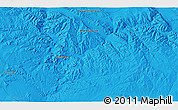 """Political 3D Map of the area around 46°26'14""""N,99°31'30""""E"""