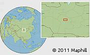 "Savanna Style Location Map of the area around 46°26'14""N,99°31'30""E"