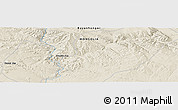 """Shaded Relief Panoramic Map of the area around 46°26'14""""N,99°31'30""""E"""