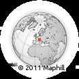 Outline Map of Bivio, rectangular outline