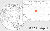"""Blank Location Map of the area around 46°51'18""""N,100°22'30""""E"""
