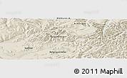 Shaded Relief Panoramic Map of Darhan Guunii Hüryee