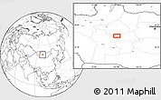 """Blank Location Map of the area around 46°51'18""""N,101°13'29""""E"""