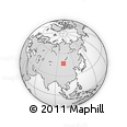 """Outline Map of the Area around 46° 51' 18"""" N, 101° 13' 29"""" E, rectangular outline"""