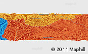 """Political Panoramic Map of the area around 46°51'18""""N,101°13'29""""E"""