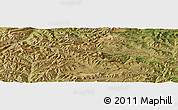 "Satellite Panoramic Map of the area around 46°51'18""N,101°13'29""E"