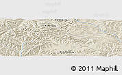 """Shaded Relief Panoramic Map of the area around 46°51'18""""N,101°13'29""""E"""