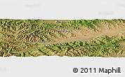"Satellite Panoramic Map of the area around 46° 51' 18"" N, 102° 4' 29"" E"