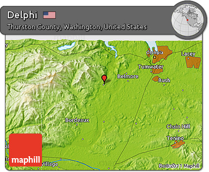 Free Physical 3D Map of Delphi