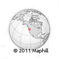 Outline Map of Plumb, rectangular outline