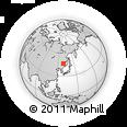 Outline Map of Jiamusi, rectangular outline