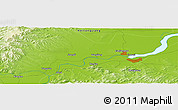 Physical Panoramic Map of Jiamusi