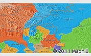 Political 3D Map of Murska Sobota