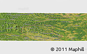 Satellite Panoramic Map of Murska Sobota