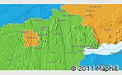 Political 3D Map of Zalaegerszeg