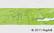 Physical Panoramic Map of Zalaegerszeg