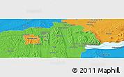 Political Panoramic Map of Zalaegerszeg