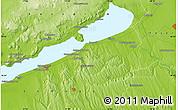 Physical Map of Siófok