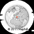 Outline Map of Szabadszállás, rectangular outline