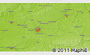 """Physical 3D Map of the area around 46°51'18""""N,1°46'29""""E"""