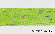 """Physical Panoramic Map of the area around 46°51'18""""N,1°46'29""""E"""