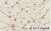 Shaded Relief Map of Békéscsaba