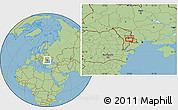 "Savanna Style Location Map of the area around 46°51'18""N,28°58'30""E"