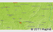 """Physical 3D Map of the area around 46°51'18""""N,2°37'30""""E"""