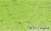 """Physical Map of the area around 46°51'18""""N,2°37'30""""E"""