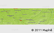 """Physical Panoramic Map of the area around 46°51'18""""N,2°37'30""""E"""