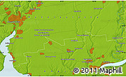 """Physical Map of the area around 46°51'18""""N,32°22'30""""E"""