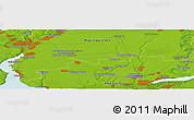 """Physical Panoramic Map of the area around 46°51'18""""N,32°22'30""""E"""