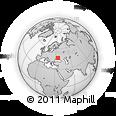 Outline Map of Melitopol', rectangular outline