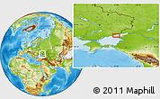 Physical Location Map of Derevetskoye