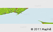 Physical Panoramic Map of Derevetskoye