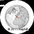 Outline Map of Decize, rectangular outline