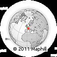Outline Map of Le Creusot, rectangular outline