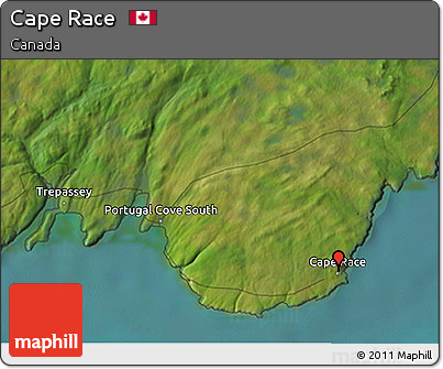 Free Satellite 3D Map of Cape Race