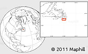 """Blank Location Map of the area around 46°51'18""""N,53°28'30""""W"""