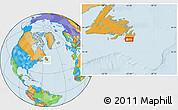 Savanna Style Location Map of Cape Race