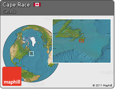 Free Satellite Location Map of Cape Race