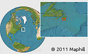 """Satellite Location Map of the area around 46°51'18""""N,53°28'30""""W"""