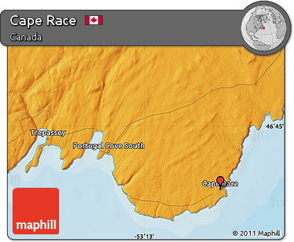 Free Political Map of Cape Race