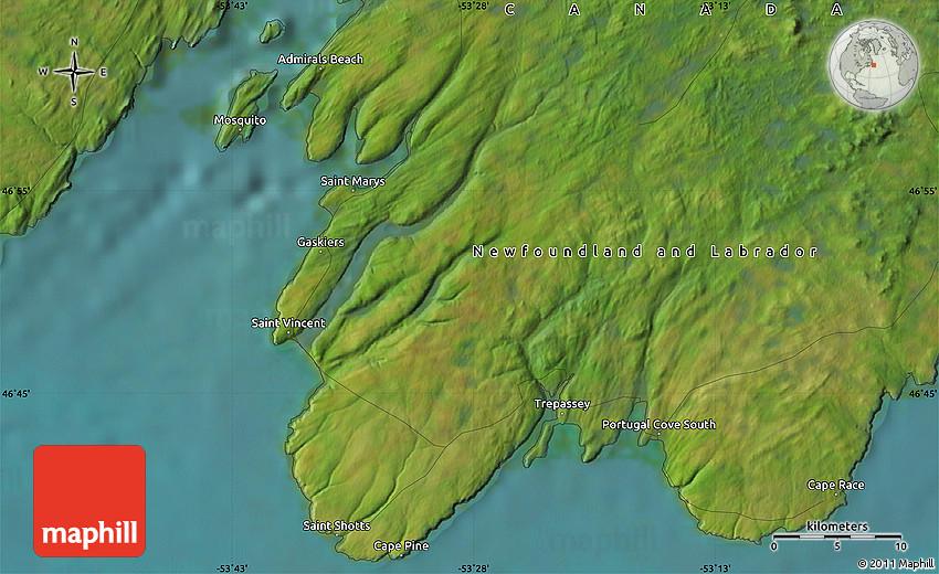Satellite Map of Cape Race