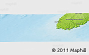 """Physical Panoramic Map of the area around 46°51'18""""N,54°19'30""""W"""