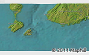 Satellite 3D Map of Petit Barachois