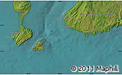 """Satellite Map of the area around 46°51'18""""N,56°1'29""""W"""