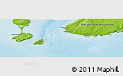 Physical Panoramic Map of Saint-Pierre