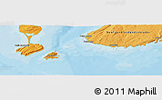 """Political Panoramic Map of the area around 46°51'18""""N,56°1'29""""W"""